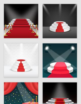 颁奖红毯舞台设计素材