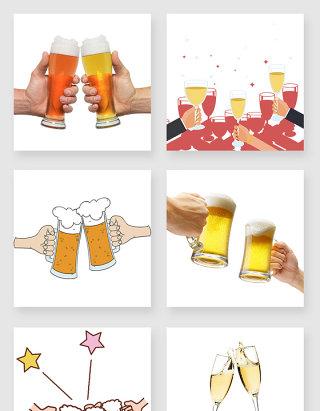 产品实物喝酒干杯设计素材