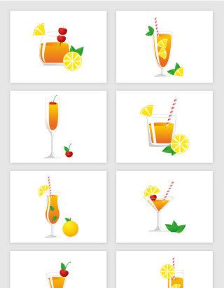 红茶柠檬汁卡通矢量图形