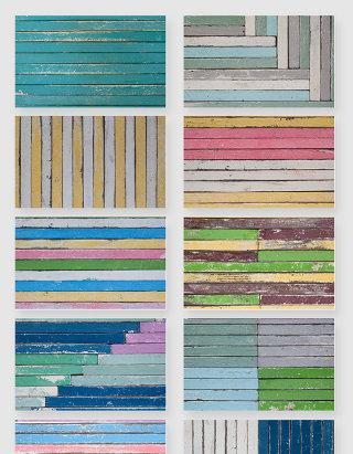 高清彩色木纹木板底纹