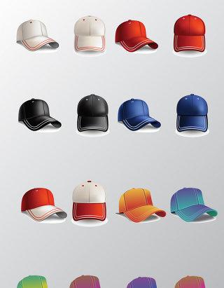 各种样式的帽子矢量素材