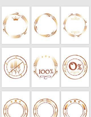 创意麦穗商标图标矢量图形