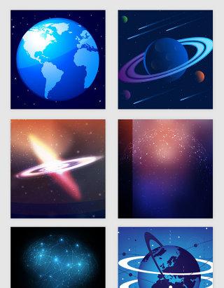宇宙风格科幻光效矢量素材