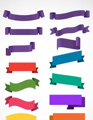 假期促销海报便签促销便签绸带紫色