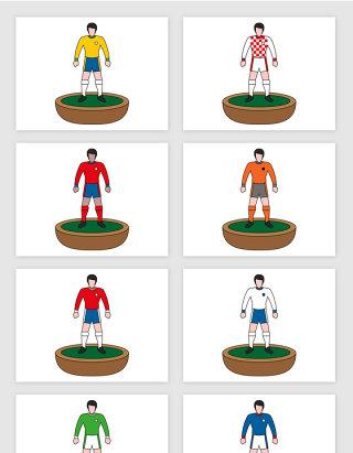 足球运动员插画模型人物矢量图形