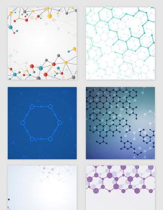 科技线条分子纹理矢量素材