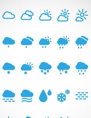 天气预报矢量小图标