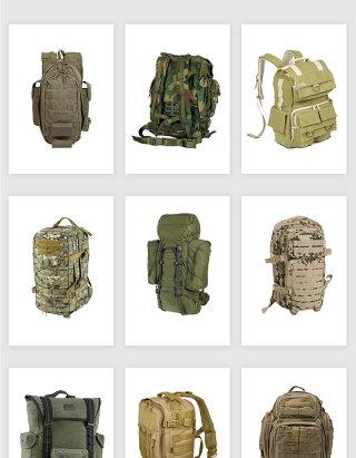 高清免抠军用旅行包背包素材