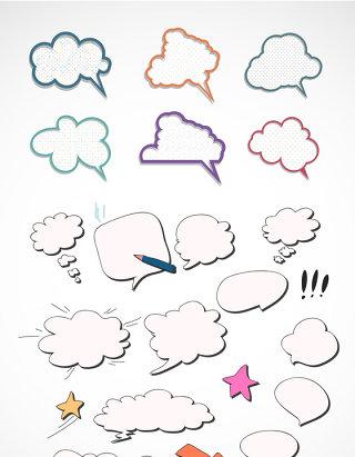 云朵矢量对话框据
