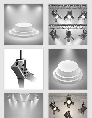 舞台灯光矢量素材