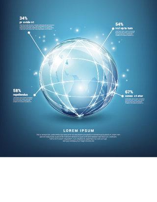 地球信息图表矢量素材