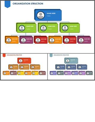 组织架构图-商业图表-商务蓝绿