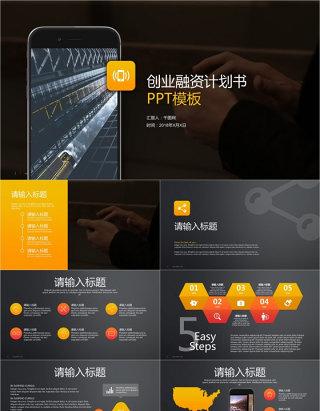 商业策划书创业计划书项目融资PPT模板