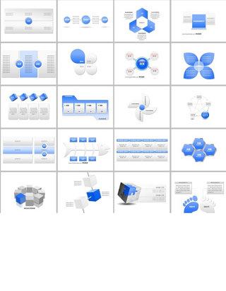 265页简洁商务PPT图表合集