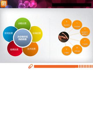 精美实用的PPT并列关系图表