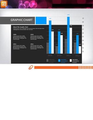 精美的年度数据分析PPT柱状图素材