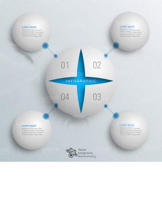时尚信息科技图表设计矢量素材