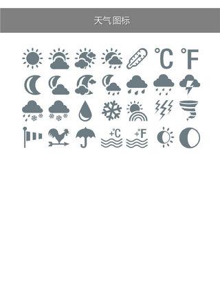天气预报天气相关PPT小图标