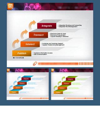 适用于商务办公层级关系类办公图表下载