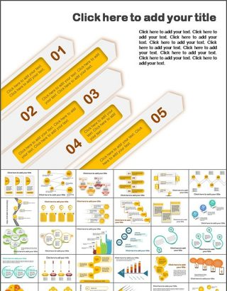 68张精美并列关系ppt图表打包 下载