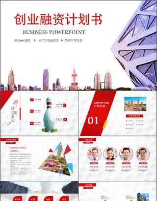 创业融资商业计划动态PPT模板