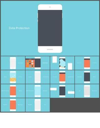 顺滑流畅手机系统界面UI动态演示动画ppt模板