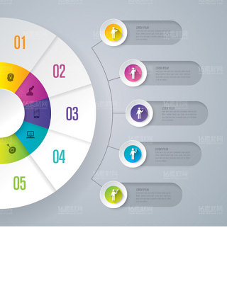 信息统计图表设计矢量素材