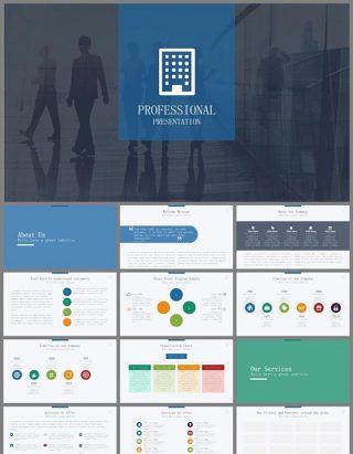 欧美商务会议总结报告PPT模板