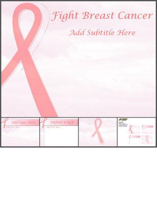 红丝带关爱艾滋病公益ppt模板