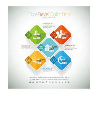 时尚商务信息图表元素矢量素材