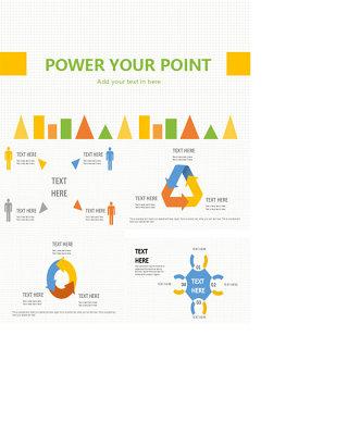 扁平化时尚PPT图表图片