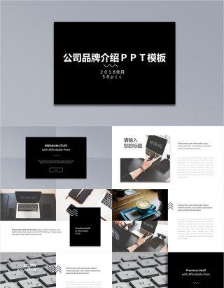 公司品牌介绍PPT模板