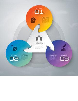 商务信息统计图表设计矢量素材