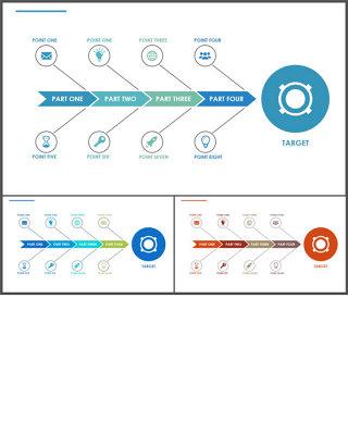 鱼骨图-商业图表-清新简约 (1)