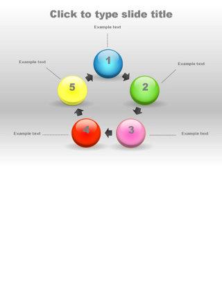 多彩圆球循环ppt图表