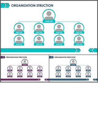 组织架构图-商业图表-商务实用清新蓝绿