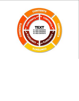 循环的圆环PPT素材