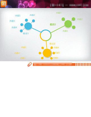 扩散关系PPT图表模板