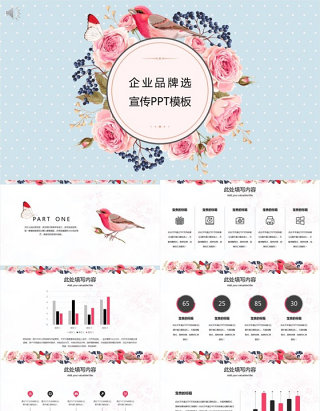 简约文艺企业品牌宣传PPT