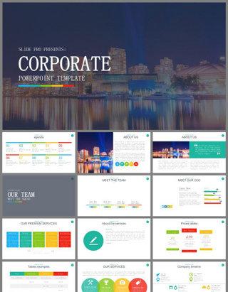 时尚多彩企业营销宣传介绍PPT模板