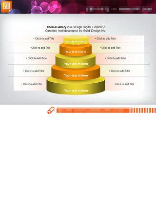 金字塔层级递进关系PPT图表素材