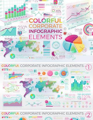 彩色创意图表大全