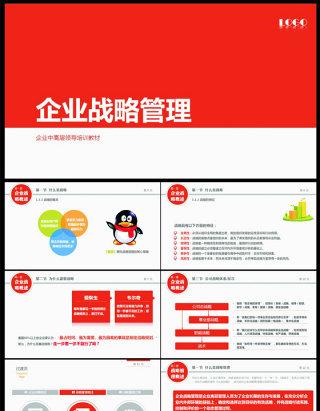 企业战略管理行业PPT模版