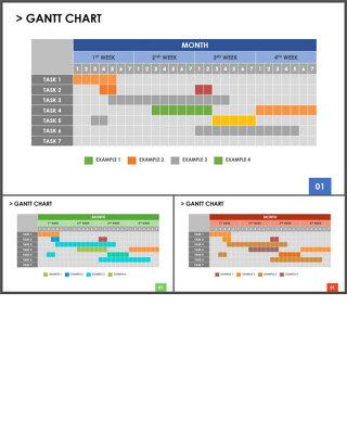 甘特图-商业图表-稳重色彩 (2)