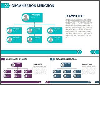 组织架构图-商业图表-商务实用清新蓝绿 (2)