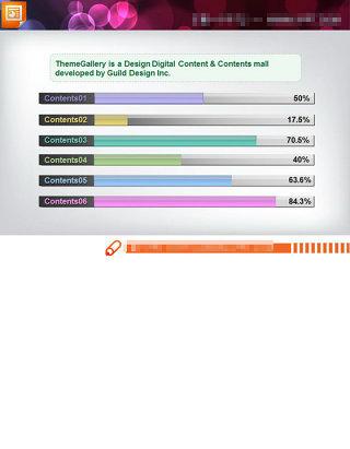 数据统计条形图PPT图表素材