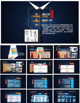 服装工作室创业策划方案精美服装ppt模板