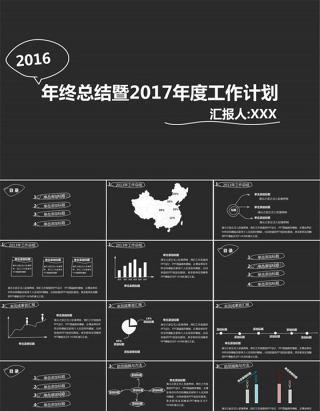 年终总结暨2015年度工作计划ppt模板