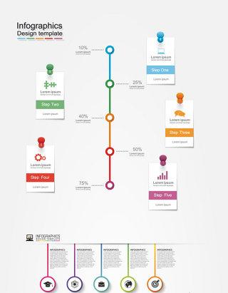 科技素材信息图标时间轴份序号列表素材下载