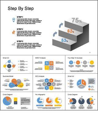 商务金融PPT图形